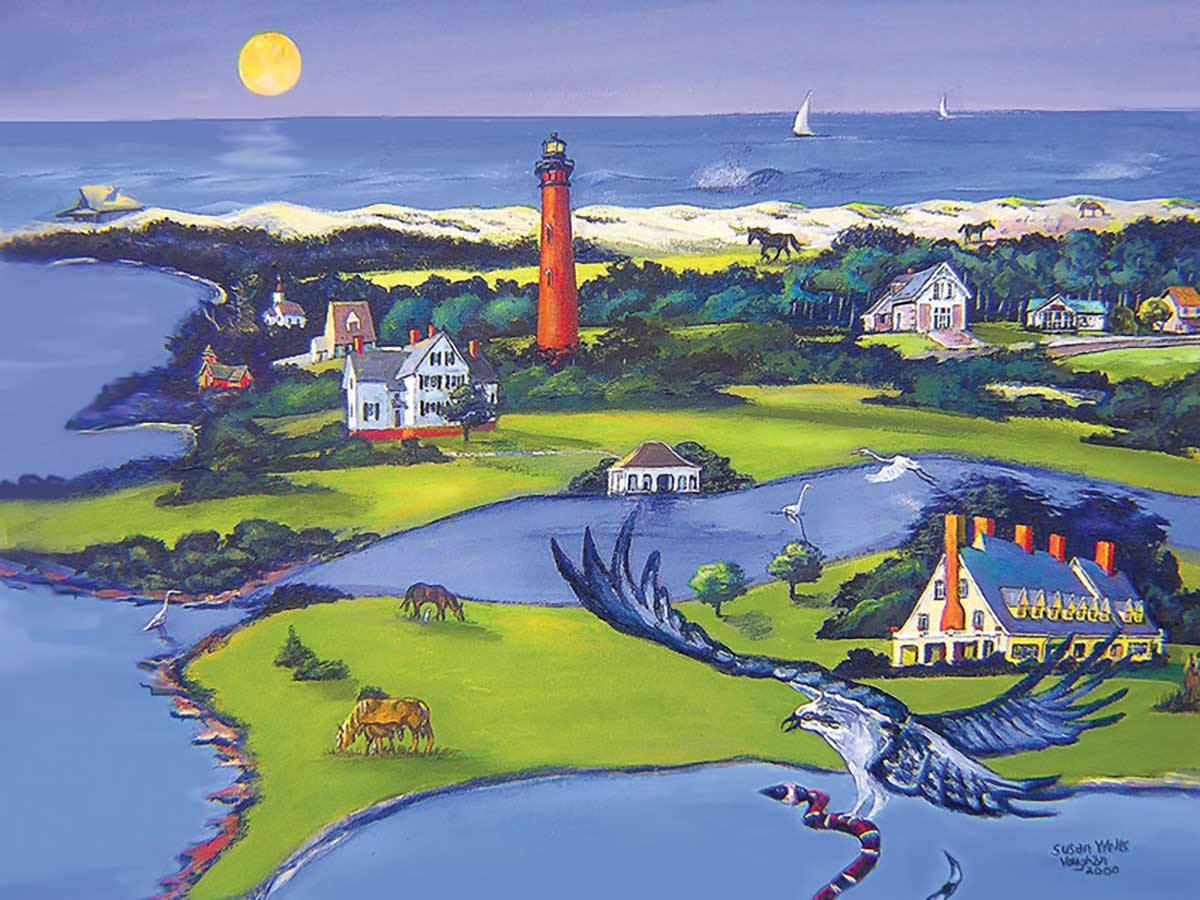 Corolla Seascape / Coastal Living Jigsaw Puzzle