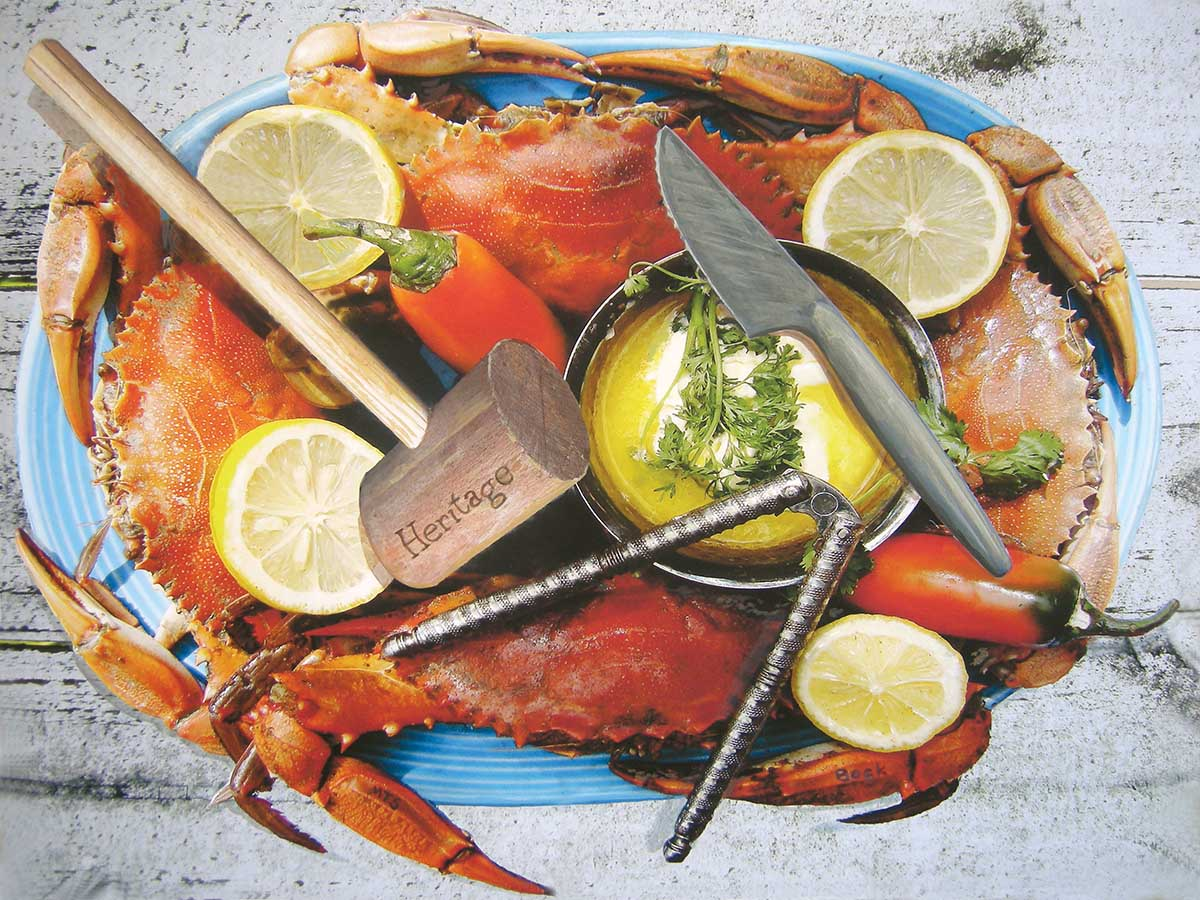 Blue Crab Feast Beach Jigsaw Puzzle