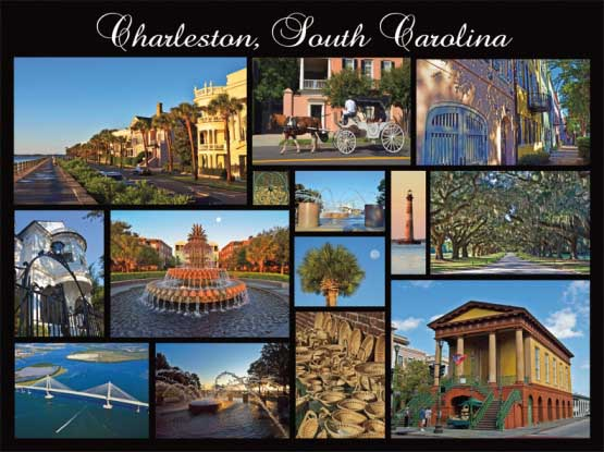 Charleston Collage Cities Jigsaw Puzzle