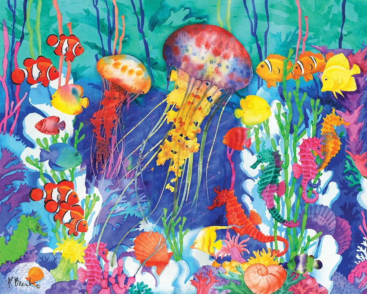 Jellyfish Lagoon Beach Jigsaw Puzzle
