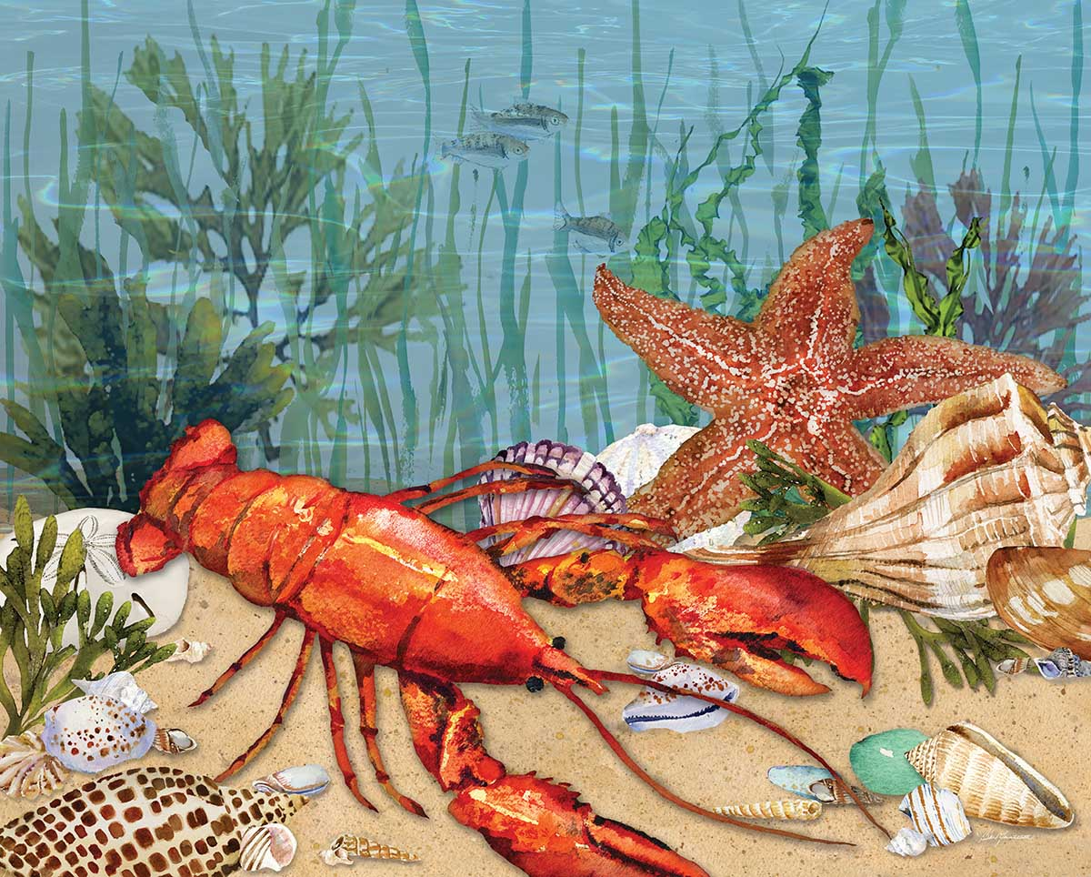 Lobster Daze Beach Jigsaw Puzzle