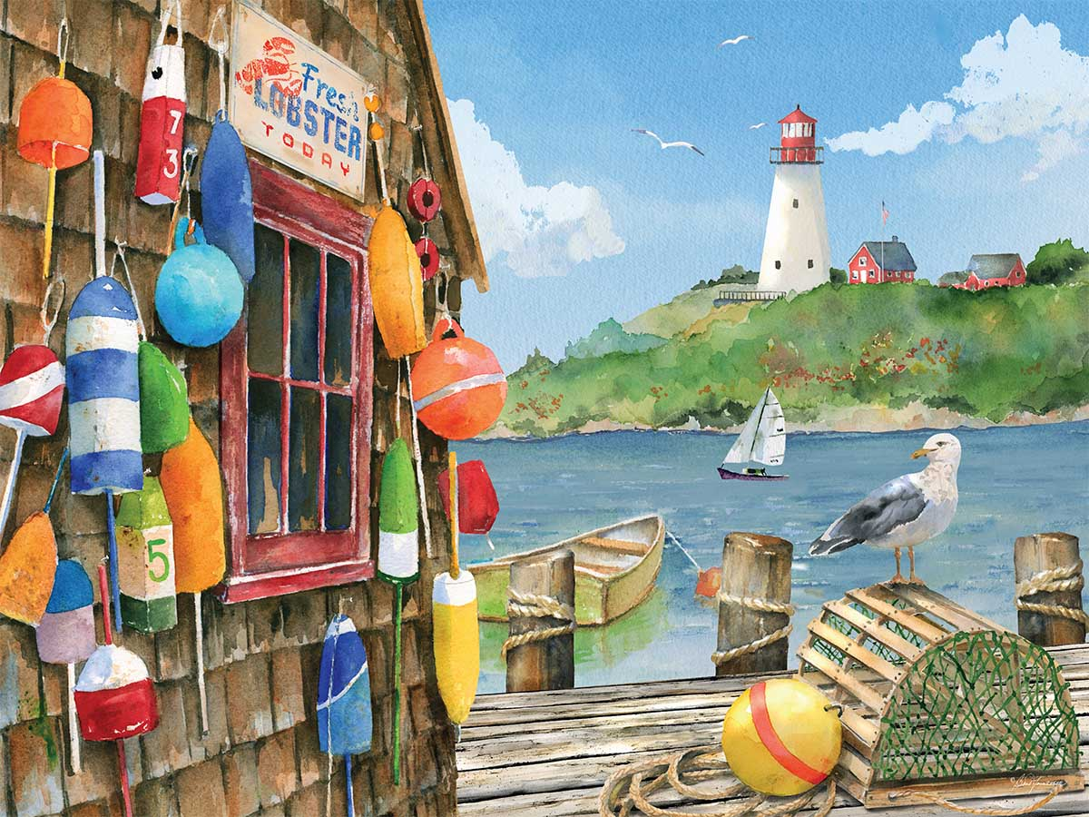 Lobster Shack Lighthouses Jigsaw Puzzle