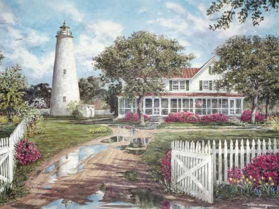 The Ocracoke Lighthouse Lighthouses Jigsaw Puzzle
