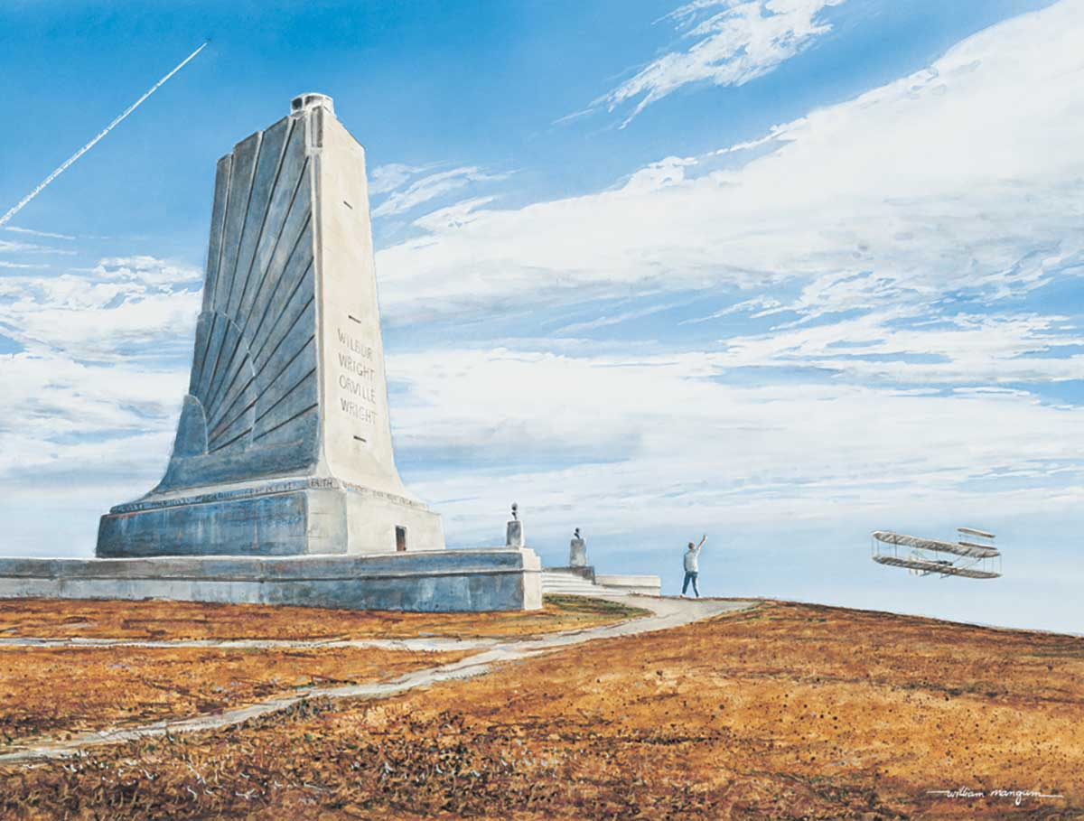 First Flight Wright Brothers Memorial Landmarks / Monuments Jigsaw Puzzle