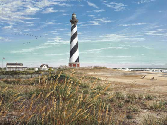 Hatteras Lighthouse Lighthouses Jigsaw Puzzle