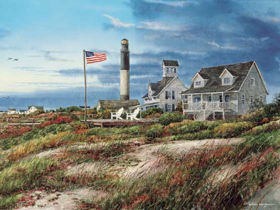 Oak Island Lighthouses Jigsaw Puzzle