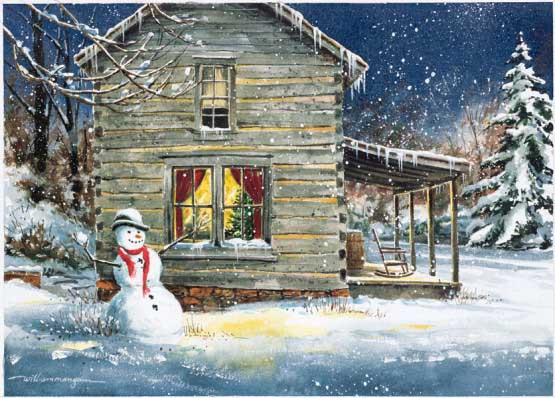 Holiday Retreat Snowman Jigsaw Puzzle