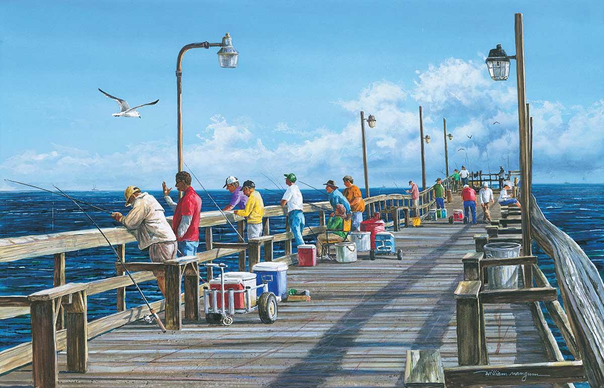 Fishing Pier Beach Jigsaw Puzzle
