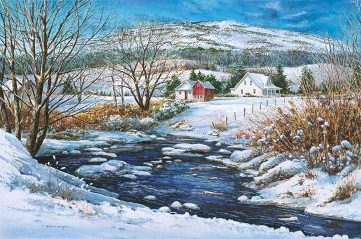 Below the Foothills Countryside Jigsaw Puzzle