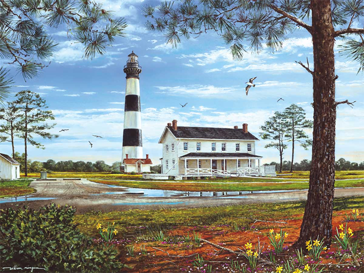 Bodie Island Lighthouse Lighthouses Jigsaw Puzzle