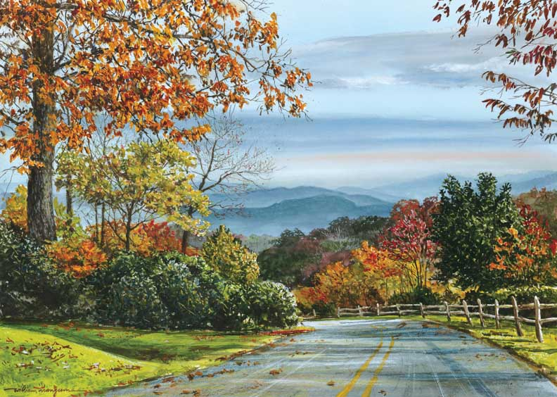 Autumn Glow Fall Jigsaw Puzzle