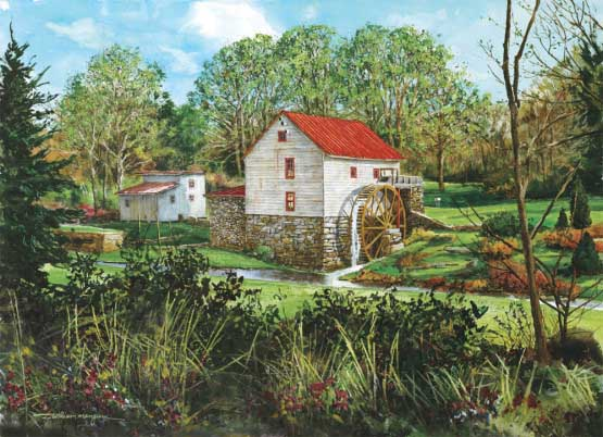 The Old Mill Landscape Jigsaw Puzzle