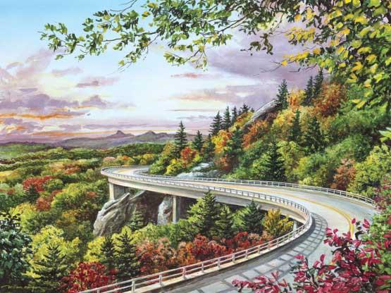 Majestic Byway Landscape Jigsaw Puzzle