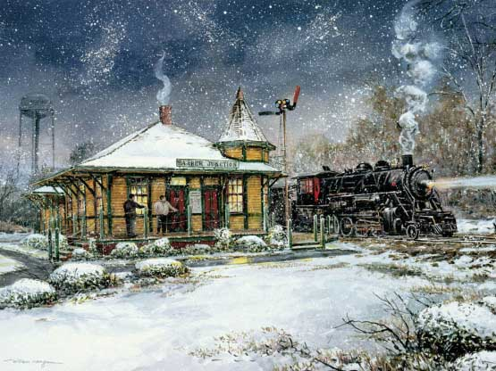 Barber Junction Winter Jigsaw Puzzle