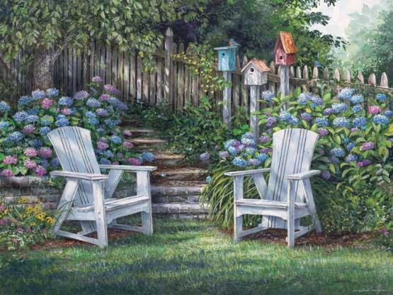 Garden Delight Garden Jigsaw Puzzle