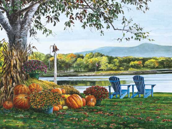 Adirondack View Fall Jigsaw Puzzle