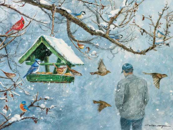 Because He Cares Birds Jigsaw Puzzle