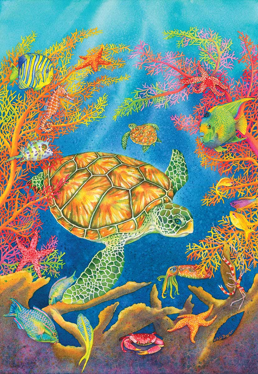 Turtle Reef Under The Sea Jigsaw Puzzle