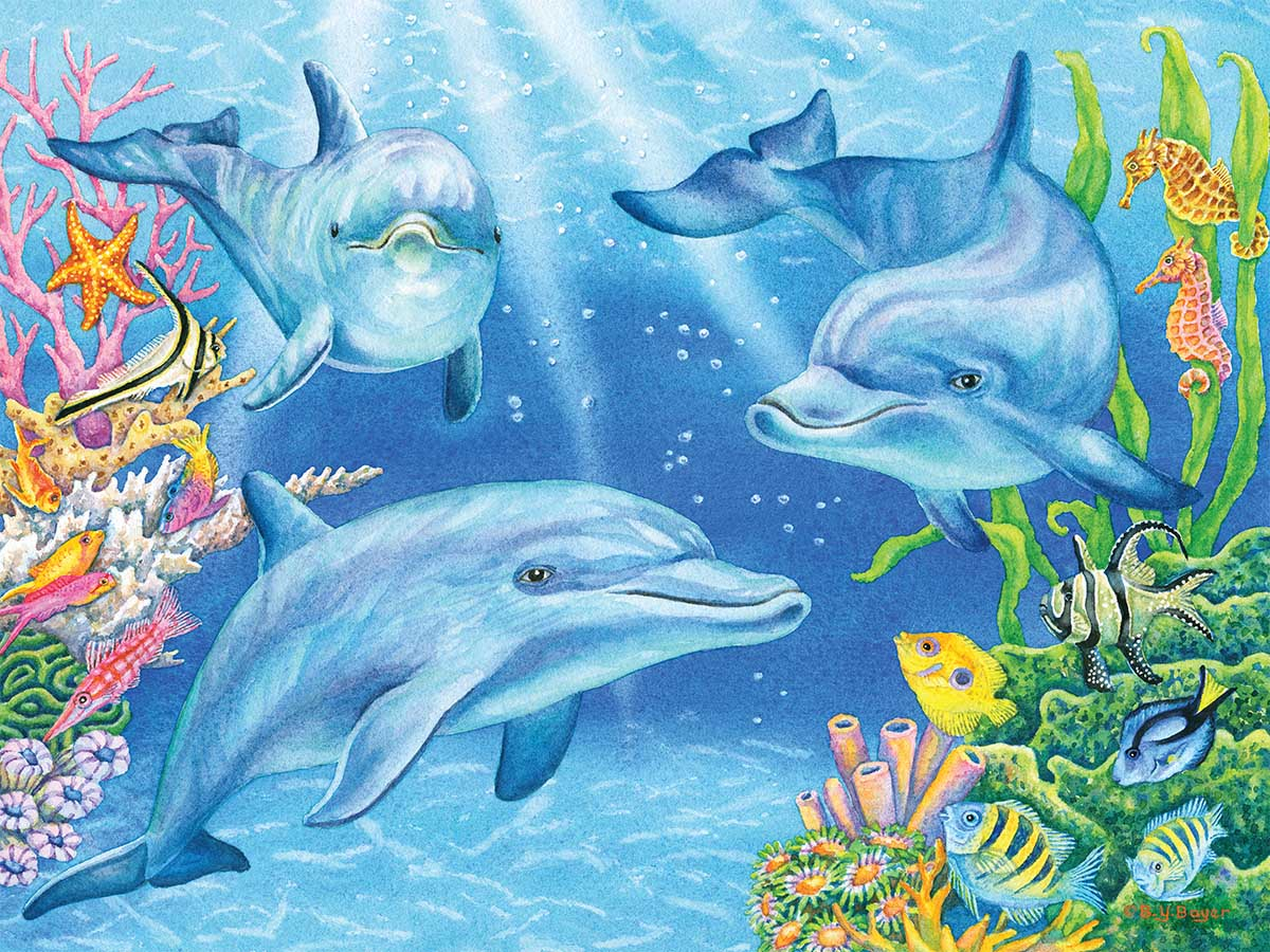 Dolphin Cove Dolphins Jigsaw Puzzle