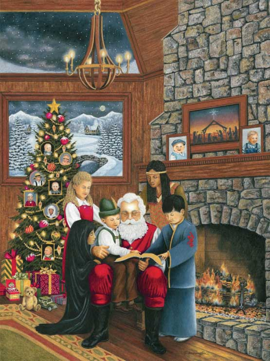 Jesus Loves the Children of the World Christmas Jigsaw Puzzle