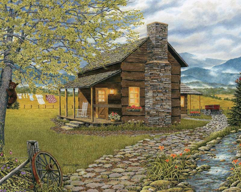 A Smoky Mountain Morning - Scratch and Dent Landscape Jigsaw Puzzle