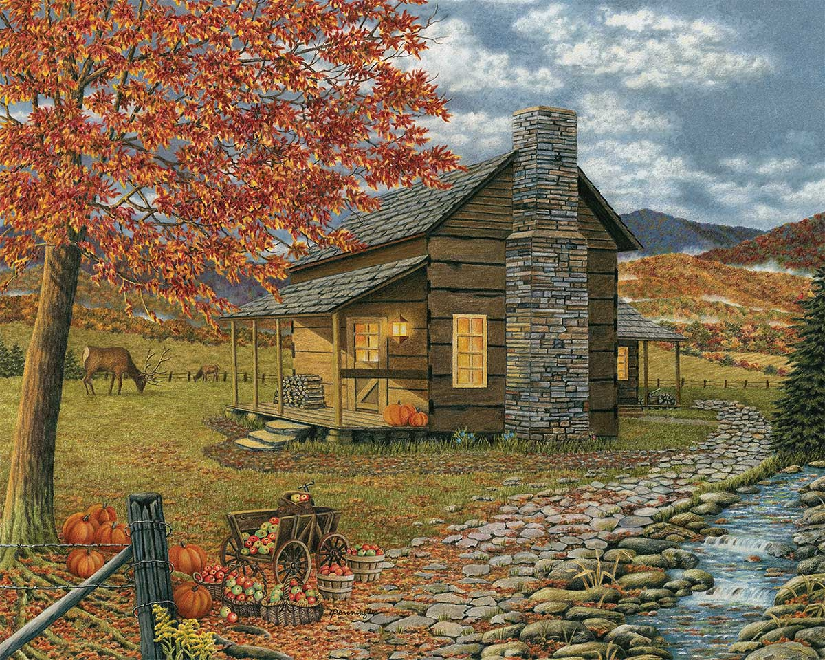 A Smoky Mountain Harvest Fall Jigsaw Puzzle