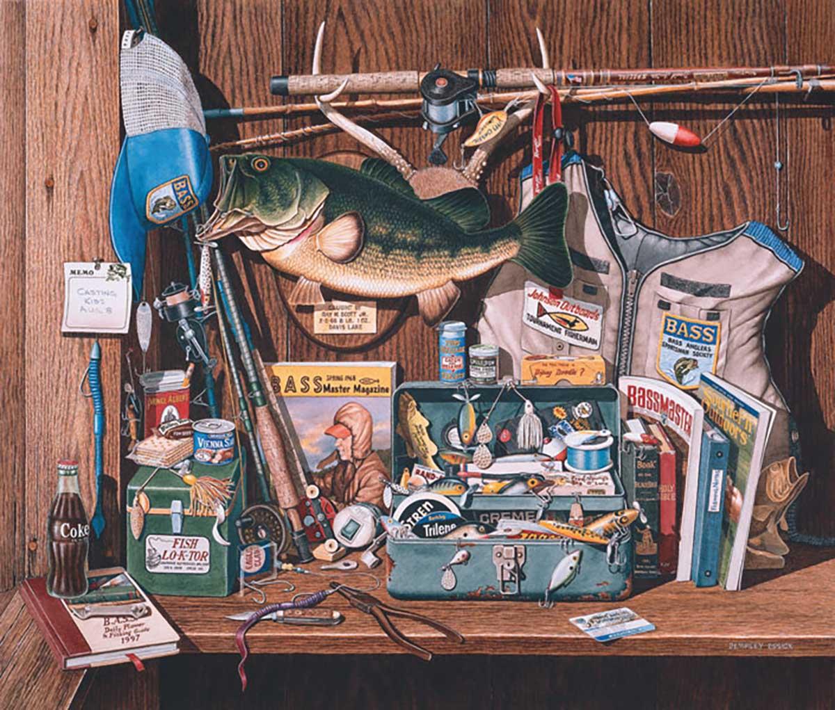 Bass Corner Fishing Jigsaw Puzzle