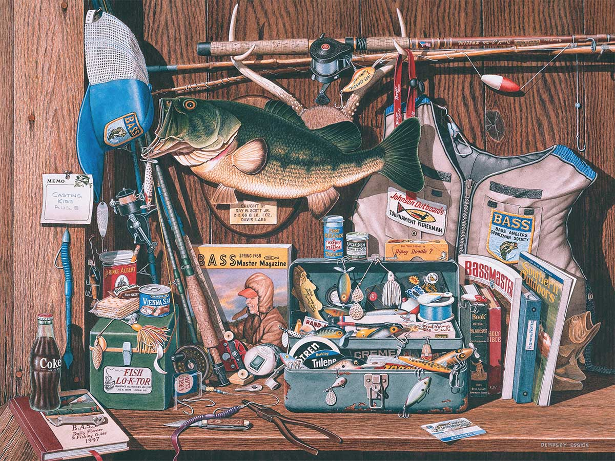 Bass Corner Father's Day Jigsaw Puzzle