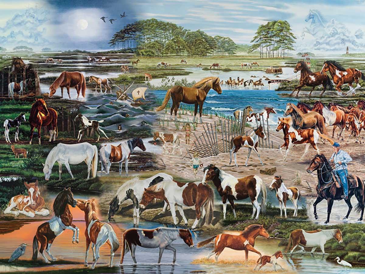 Chincoteague's Finest Horses Jigsaw Puzzle