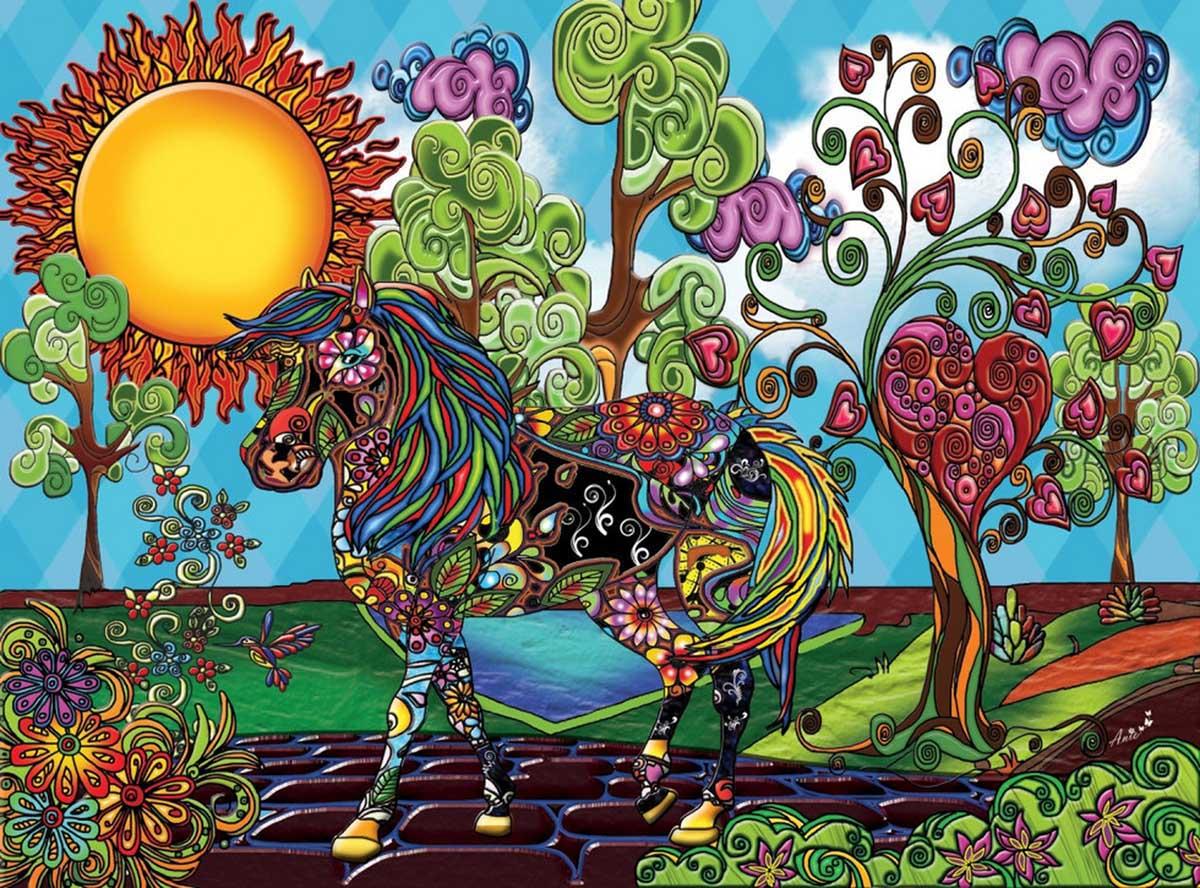 Magical Garden Horses Jigsaw Puzzle