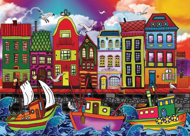 Fishing Port Boats Jigsaw Puzzle