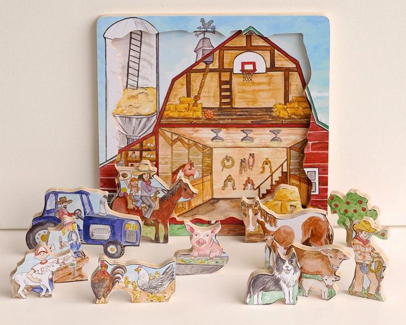 Flipzles Farm Puzzle Farm Tray Puzzle