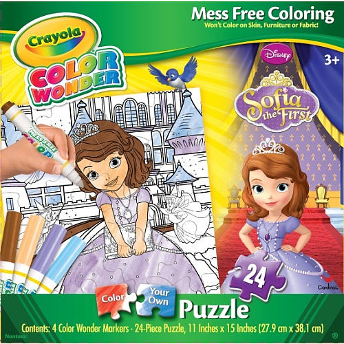Crayola Color Wonder Puzzle - Sofia the First Cartoons Arts and Crafts