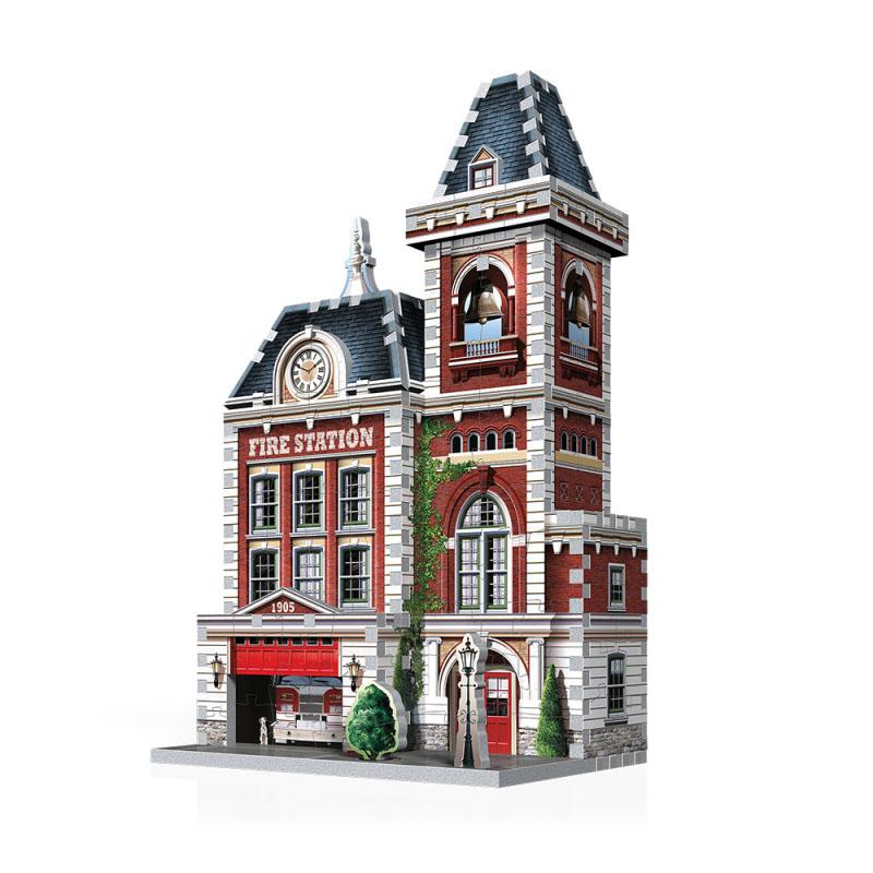 Fire Station (Urbania) Street Scene Jigsaw Puzzle