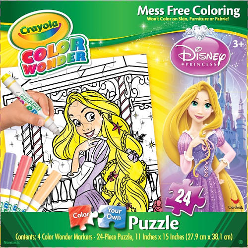 Crayola Color Wonder Puzzle - Rapunzel Cartoons Children's Puzzles