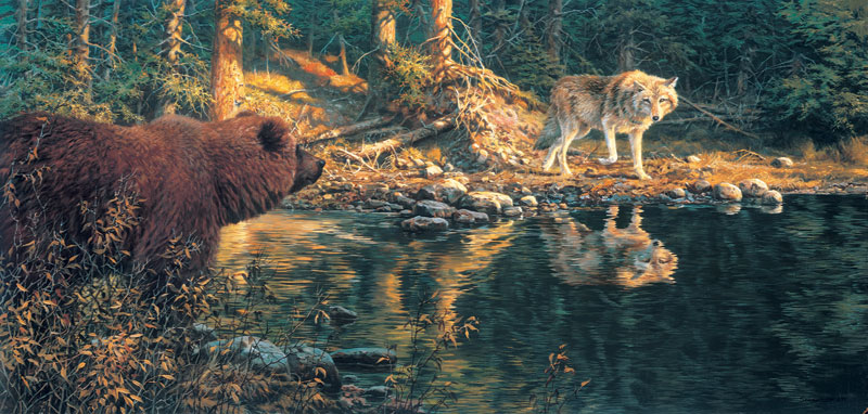 Evening Encounter Wildlife Jigsaw Puzzle