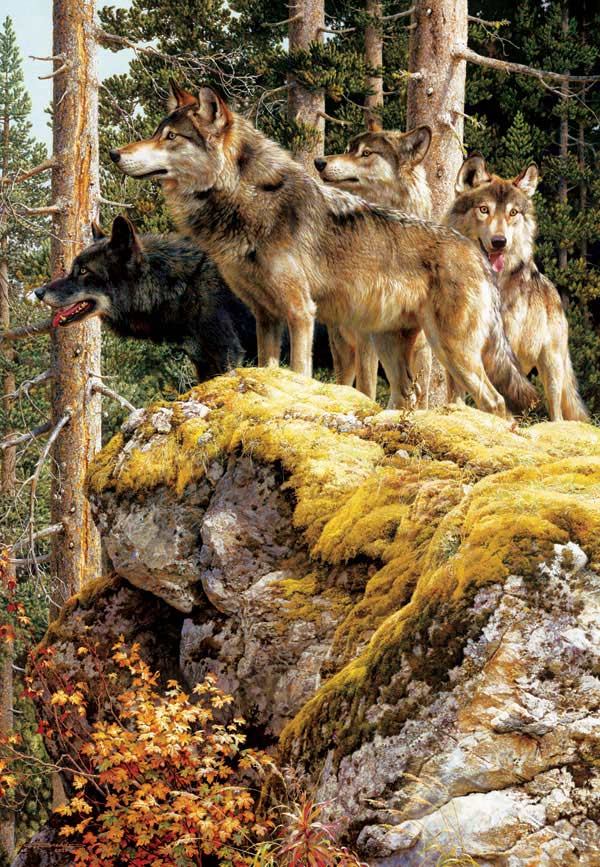 The Lookout Tower Wolves Jigsaw Puzzle
