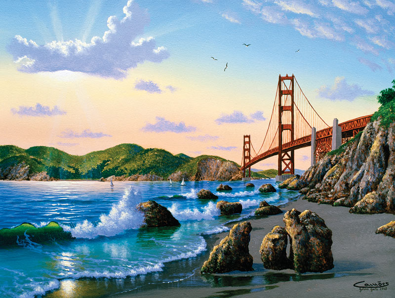 Bridge View Landmarks / Monuments Jigsaw Puzzle
