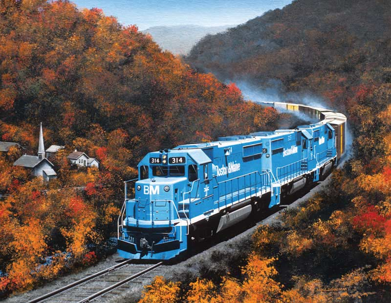 Autumn on the Boston Maine Trains Jigsaw Puzzle