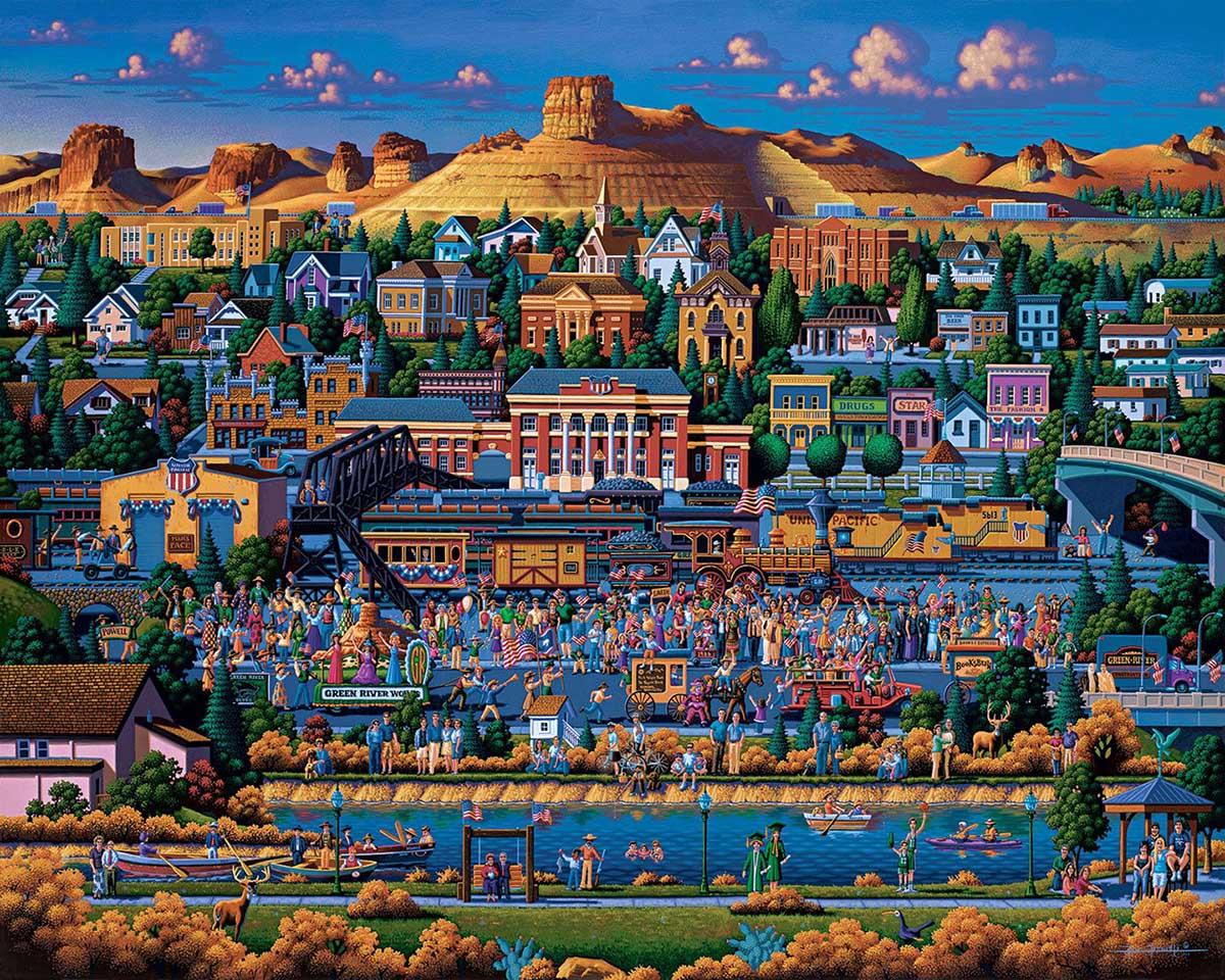Green River Americana & Folk Art Jigsaw Puzzle