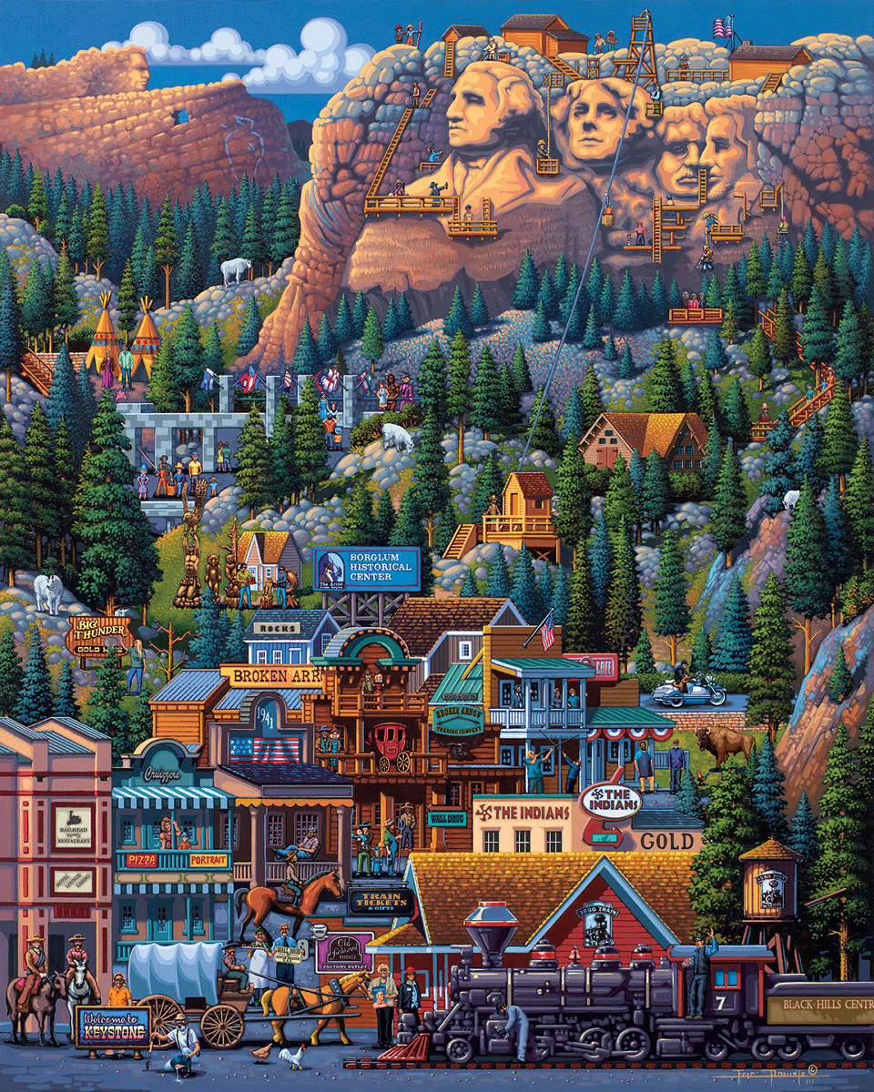 The Black Hills Mountains Jigsaw Puzzle
