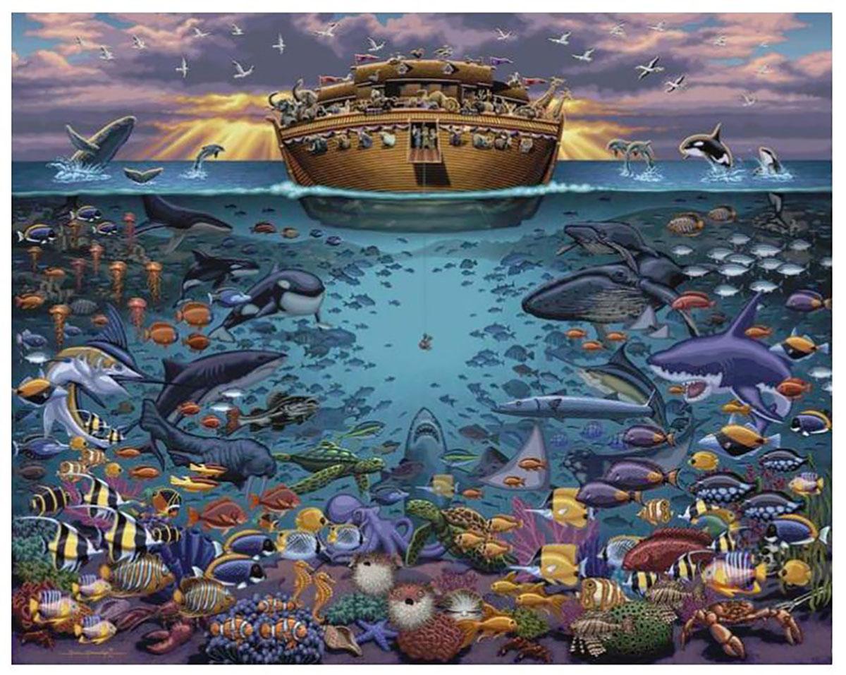 Noah's Ark Under the Sea Animals Jigsaw Puzzle