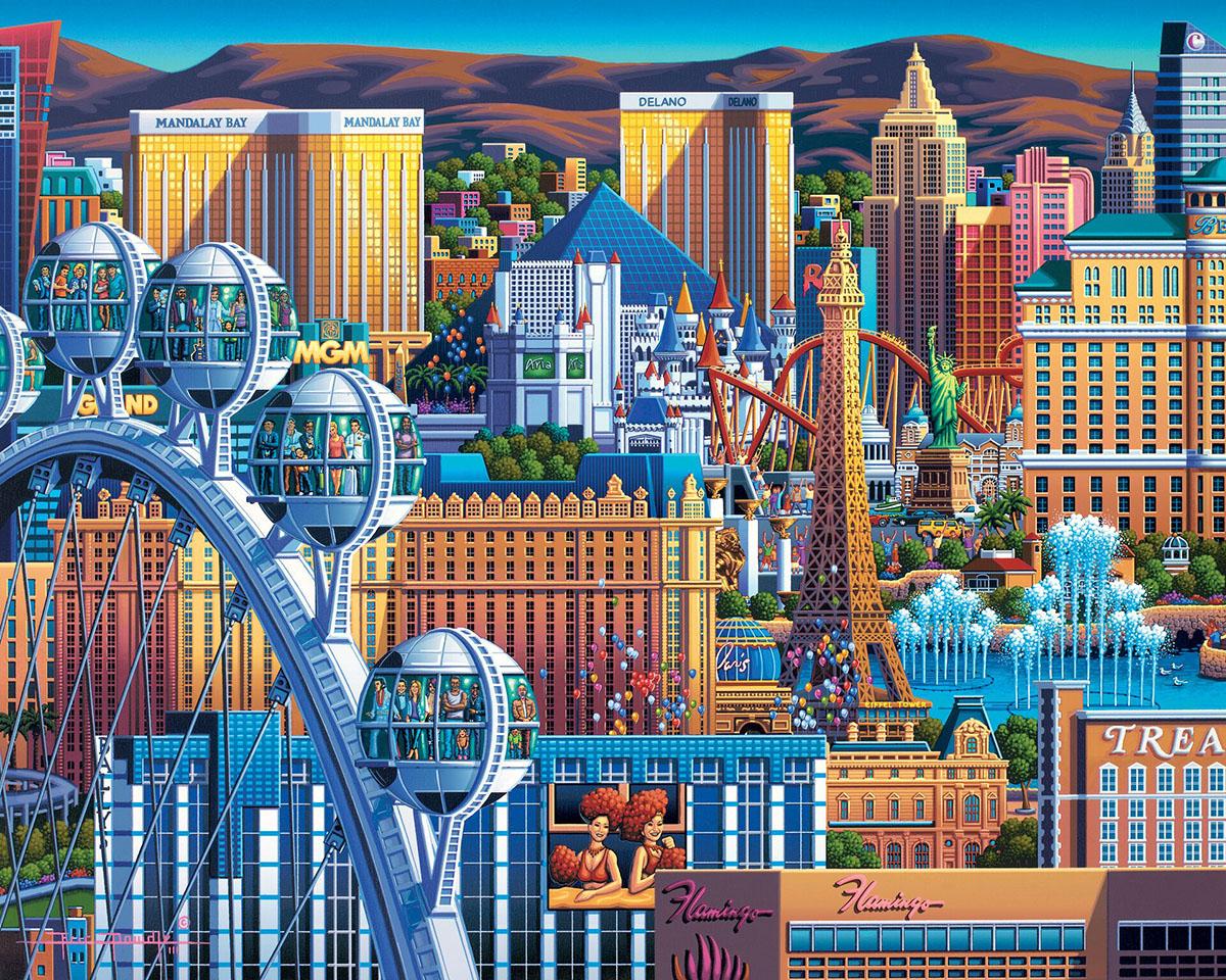 Las Vegas Great Wheel Landmarks / Monuments Jigsaw Puzzle