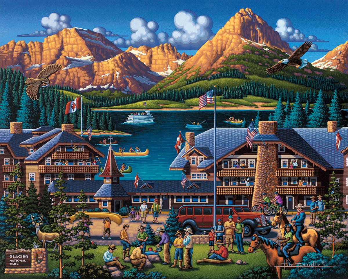 Glacier National Park Landmarks / Monuments Jigsaw Puzzle