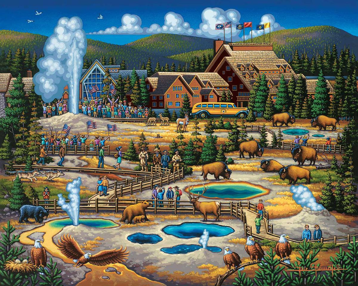 Yellowstone National Park 2016 Wildlife Jigsaw Puzzle