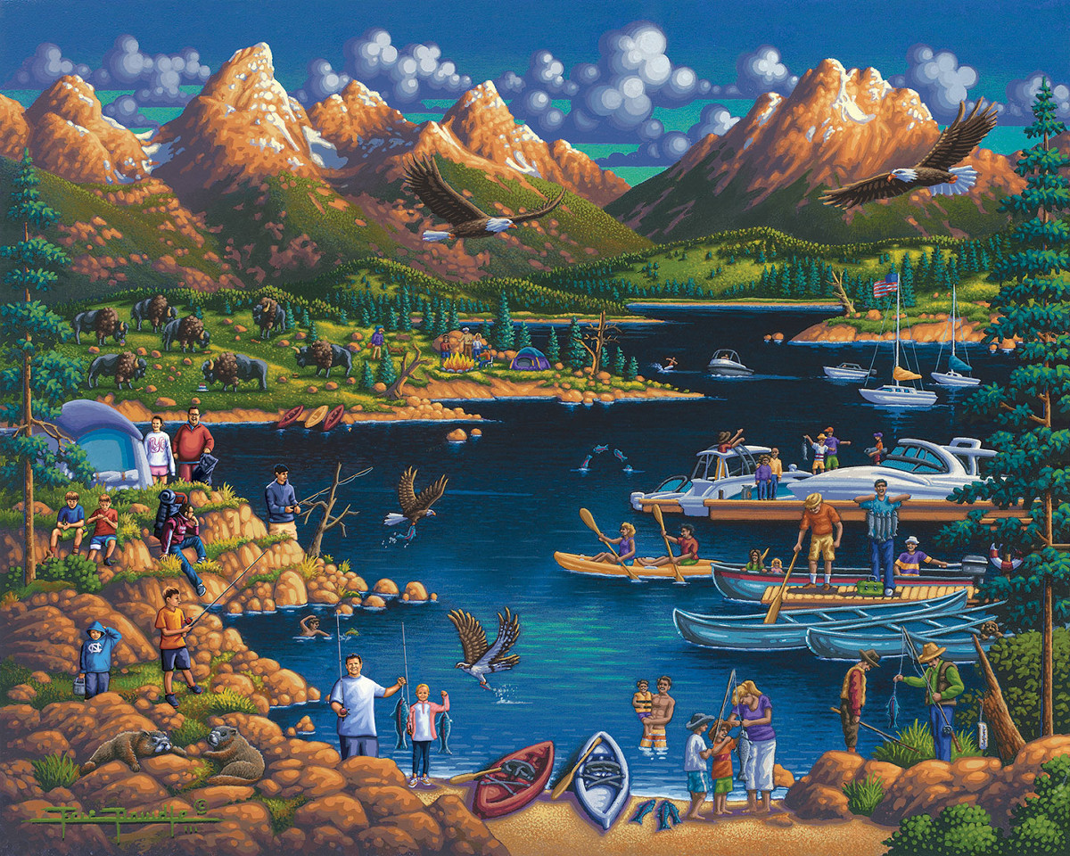 Grand Teton National Park Nature Jigsaw Puzzle