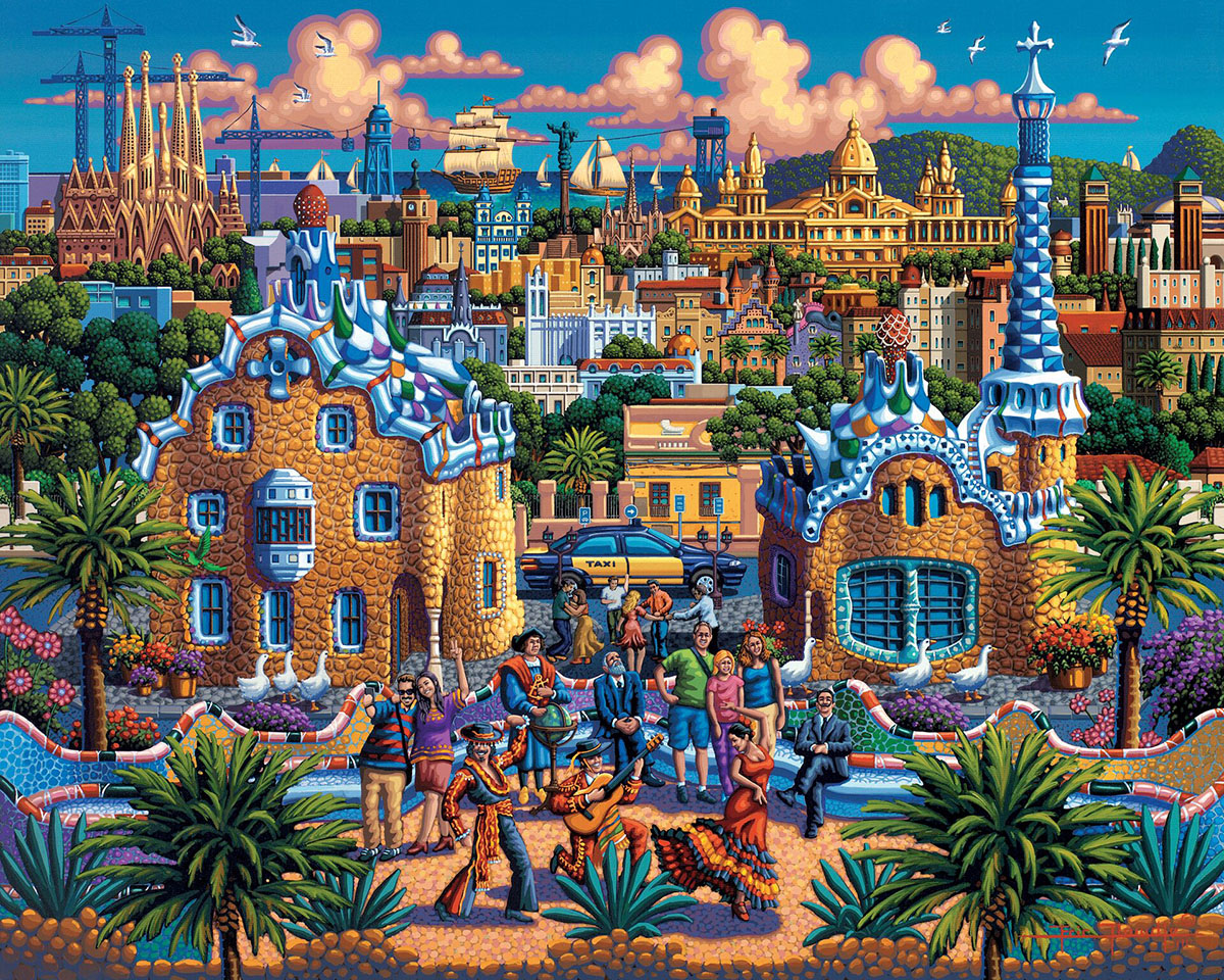 Barcelona Cities Jigsaw Puzzle