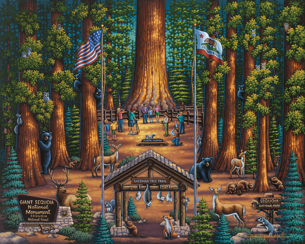 Sequoia National Park Landmarks / Monuments Jigsaw Puzzle