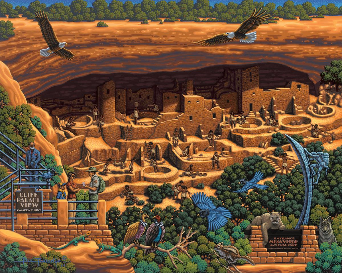Mesa Verde National Park Landmarks / Monuments Jigsaw Puzzle