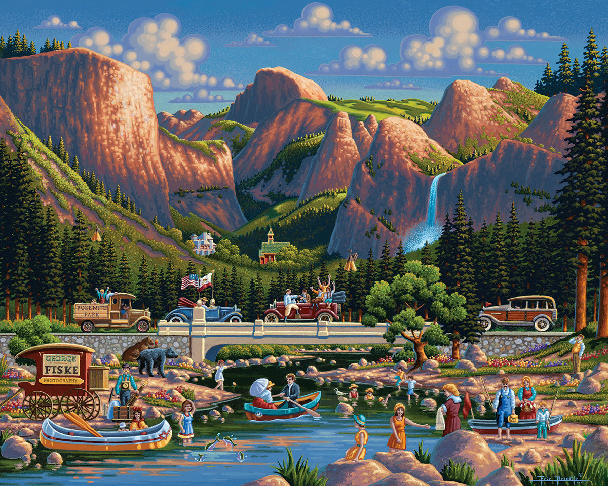 Yosemite National Park Landmarks / Monuments Jigsaw Puzzle